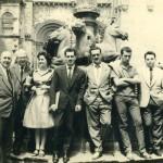 Ramón Gonzalez Alegre, Aquilino Iglesias Alvariño, Saleta, Manuel María, Franco Grande, Xosé Luis Mendez Ferrín, Carlos Somozas VillardelRio